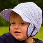 Pickapooh - Baby-Sonnenhut Hans blau gestreift, kbA