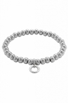 Fossil Charm Strech Armband Damenarmband JF00023 Edelstahl Perlen
