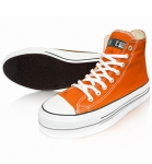 Ethletic FAIRTRADE HiCut Sneaker Bio - orange