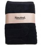 Neutral Organic Badetuch 140x76 cm schwarz
