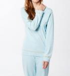 Living Crafts Frauen Schlafanzug aus Bio-Baumwolle - hellblau