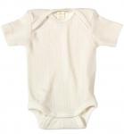 Living Crafts - Kids Baby Kurzam-Body aus Bio-Baumwolle - natur