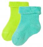 Living Crafts - Kids Baby Plüsch-Söckchen - 2er Pack - lime/turquoise