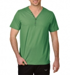 Trigema - Change Change - T-Shirt mit Knopfleiste - Biobaumwolle farn