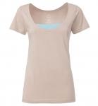THOKKTHOKK Fairtrade Deep Neck T-Shirt aus Biobaumwolle - beige