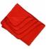 Living Crafts Fleece-Decke klein aus 100% Biobaumwolle - terracotta