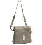 Natural World Bolso Tintado - Biobaumwoll-Tasche mit Überschlag - cemento