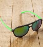 Antonio Verde Bologna - Sonnenbrille aus recyl. Kunststoff - schwarz-grün