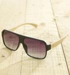Antonio Verde Venice - Sonnenbrille aus recyl. Kunststoff & Bambus black glanz