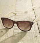 Antonio Verde Trento - Sonnenbrille aus recyl. Kunststoff & Bambus - brown