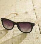 Antonio Verde Trento - Sonnenbrille aus recyl. Kunststoff & Bambus - black