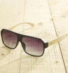 Antonio Verde Venice - Sonnenbrille aus recyl. Kunststoff & Bambus - black