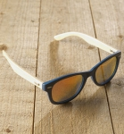 Antonio Verde Genua - Sonnenbrille aus recyl. Kunststoff & Bambus - blue/or.