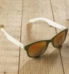 Antonio Verde Genua - Sonnenbrille aus recyl. Kunststoff & Bambus - green/or.