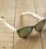 Antonio Verde Genua - Sonnenbrille aus recyl. Kunststoff & Bambus - green/bl.