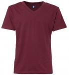 THOKKTHOKK Fairtrade V-Neck T-Shirt aus Biobaumwolle - bordeaux