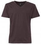 THOKKTHOKK Fairtrade V-Neck T-Shirt aus Biobaumwolle - dark brown