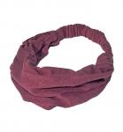 HempAge Haarband aus Hanf und Biobaumwolle - burgundy