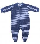 Living Crafts - Kids Baby Schlafanzug aus Bio-Baumwolle - dunkelblau-natur