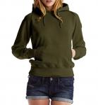 Continental Clothing Distressed Vintage Washed Pullover Hoodie vintage moos grün
