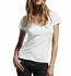 Continental Clothing Deep V-Neck Fine Jersey T-Shirt weiss