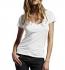 Continental Clothing Deep V-Neck Fine Jersey T-Shirt weiss