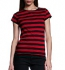 Continental Clothing Striped Jersey T-Shirt schwarz-rot