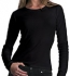 Continental Clothing Long-Sleeved Fitted T-Shirt schwarz
