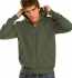 Hanes Beefy Hooded Jacket khaki