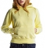 Continental Clothing Distressed Vintage Washed Pullover Hoodie washed yellow
