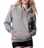 Continental Clothing Pullover Hooded Sweatshirt light heather