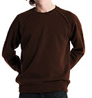 Continental Clothing Distressed Vintage Washed Sweatshirt washed brown