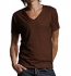 Continental Clothing Deep V-Neck Jersey T-Shirt bitter chocolate