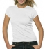 Bella Baby Rib Short Sleeve Crew Neck T-shirt weiss
