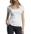 Continental Clothing Scooped Neck Fine Jersey T-Shirt weiss