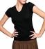 Bella Baby Rib Short Sleeve V-Neck T-shirt schwarz