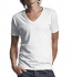 Continental Clothing Deep V-Neck Jersey T-Shirt weiss