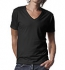 Continental Clothing Deep V-Neck Jersey T-Shirt schwarz