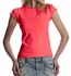 Continental Clothing Raw Cut Jersey T-Shirt hot pink