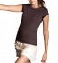 Bella Sheer Jersey Longer Length T-Shirt chocolate