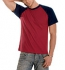 Hanes Baseball T-Shirt wine-navy