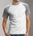 Hanes Baseball T-Shirt weiss-heather grey