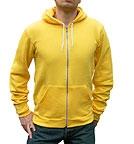 American Apparel Flex Fleece Zip Hoody sunshine