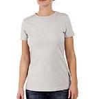 Wechselstoff T-Shirt aus Biobaumwolle hellgrau