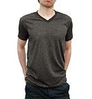 US-Blanks Short Sleeve V-Neck T-Shirt charcoal