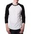 Continental Clothing Retro  Sleeve Baseball Shirt weiss-schwarz