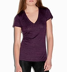 Bella Triblend Deep V-Neck T-Shirt amethyst heather