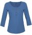 Trigema - Change Change Langarmshirt mit Knopfleiste Greta - Biobaumwolle jeans