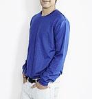 Trigema - Change Change Sweatshirt Paul - Biobaumwolle royalblau