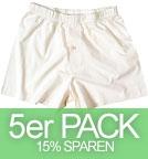 Living Crafts Boxer Shorts - Biobaumwolle natur - 5er-Pack